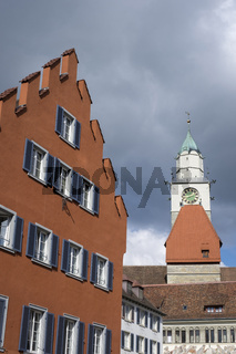 Altstadthäuser mit dem Münster St. Nikolaus