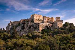 View of Acropolis from the Areopagus Hill, Athens, Greece