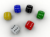 Color playing dice