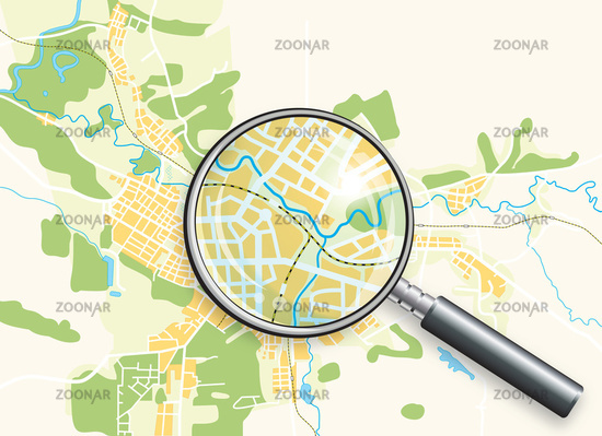 Map of the City and A Loupe
