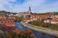 Cesky Krumlov cityscape in Czech Republic