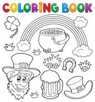 Coloring book St Patricks Day theme 1