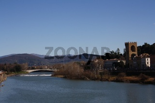 Florenz, Panorama mit Arno und Porta San Niccolò