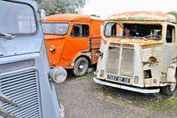 Fortbewegung alte ausrangierte Transporter