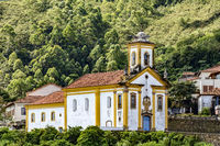 Old historical catholic church in Ouro Preto city