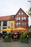 Cafe in der Altstadt von Quedlinburg