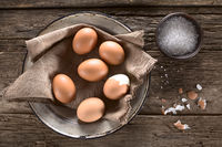 Cooked Brown Eggs