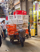Tehran Grand Bazaar manual workers