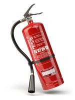Fire extinguisher isolated on white background.