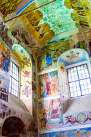 Wall painting in the Alexander Svirsky Monastery in Staraya Sloboda, Russia. July 2016.