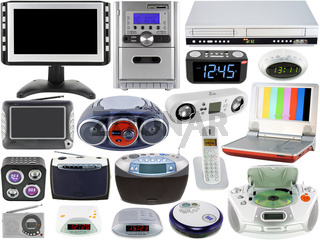 Set of home audio video electronic devices