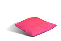 pink pillow over white background with shadow
