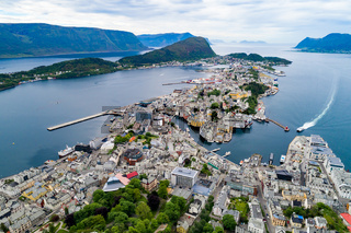 Aksla at the city of Alesund , Norway