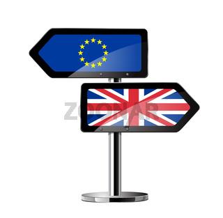 Brexit British referendum concept sign