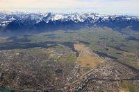 Thun Panorama Alpen Berge City Stadt Schweiz Luftbild
