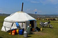 Lagerraum Jurte mongolischer Nomaden