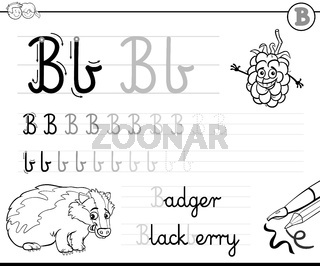 learn to write letter B workbook for kids