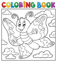Coloring book happy butterfly topic 2