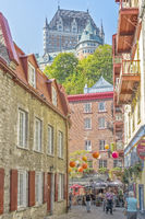 Chateau Frontenac, Viewed From The Lower Old Town, Quebec City, Canada