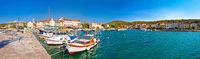 Island of Zlarin harbor panoramic view
