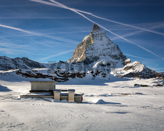 Matterhorn Peak in Zermatt Ski Resort, Switzerland