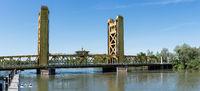 Tower Bridge Gateway across Sacramento River in California