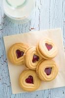 Sweet jelly cookies.