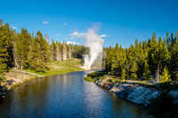 Riverside Geyser in Yellowstone National Park