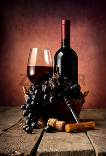 Old red wine