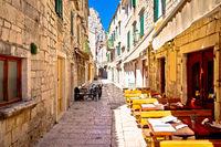 Stone narrow mediterranean street of Omis