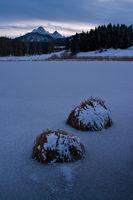 Vereister See
