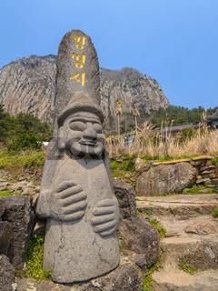 Dol hareubang statue at Sanbangsan, Jeju Island, South Korea