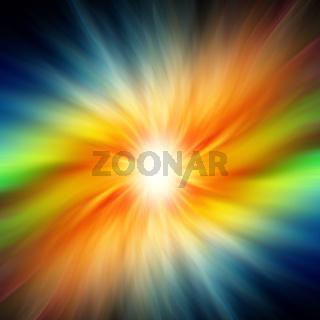 Abstrakte Lichtform