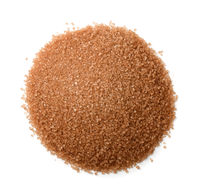 Top view of brown cane sugar heap