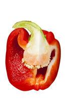 sliced pepper on white