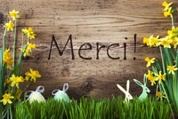 Easter Decoration, Gras, Merci Means Thank You