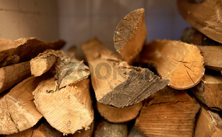 close up of firewood