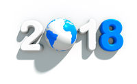 New year logo | 3d illustration