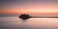 Long exposure scene view of Barrenjoey Headland Pittwater at dawn