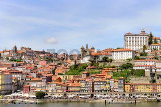 View of Porto Ribeira and Douro river in Porto, Portugal