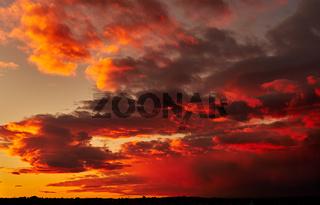 Beautiful bright sunset