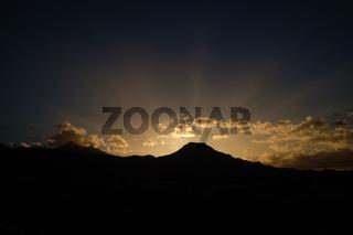 beautiful sunrise over mountain