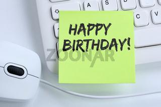 Happy Birthday alles Gute zum Geburtstag Arbeit Arbeitsplatz Business Konzept Maus
