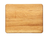 Rectangular oak wood cutting board isolated