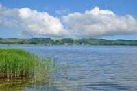 Blick auf den Ort Gross Zicker,Insel Ruegen,Ostsee,MVP,Deutschland