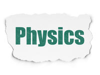 Studying concept: Physics on Torn Paper background