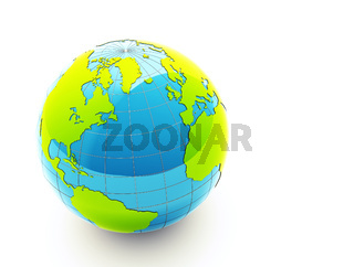 green 3d earth - ecology concept