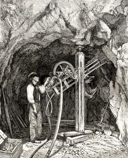 Motor Hammer Drill of the Swiss engineer Leschot