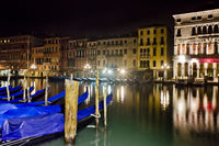 Venice By Night Quiet And Uncrowded, Italy