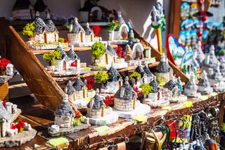 ALBEROBELLO, ITALY - Trulli di Alberobello souvenirs for tourists
